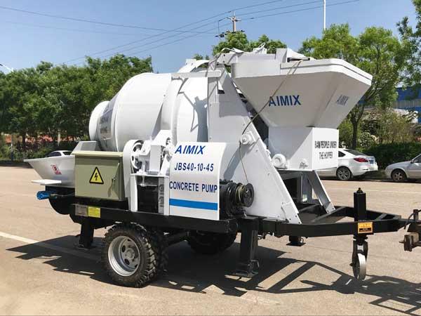 ABJZ40D electric concrete mixer with pump