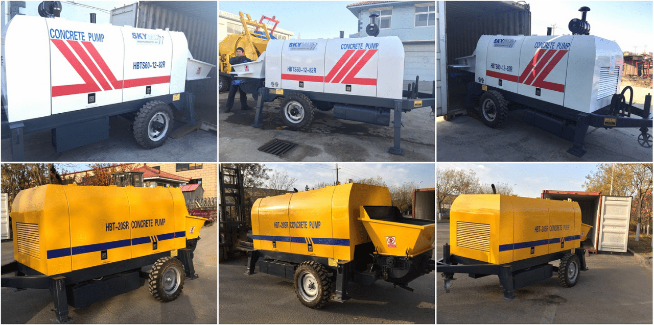 deliver concrete trailer pump to different countries