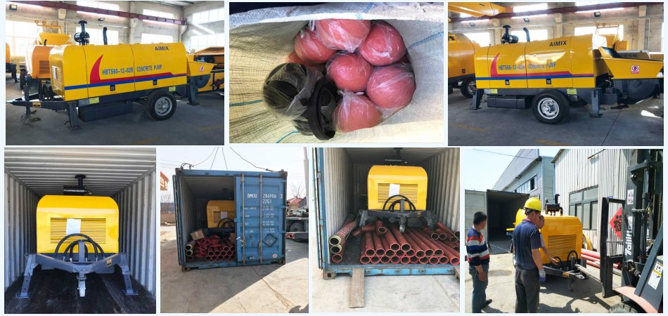 transport the ABT60C concrete trailer pump to Philippines