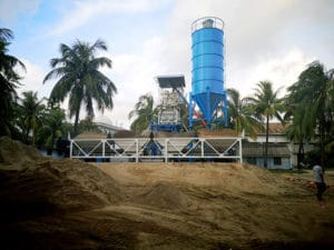 AJ50 batching plant install in Bangladesh
