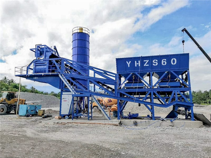 YAJ60 mobile batching plant to Philippines