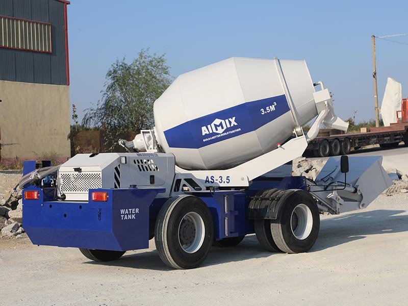 3.5cub self loading concrete mixer truck for sale