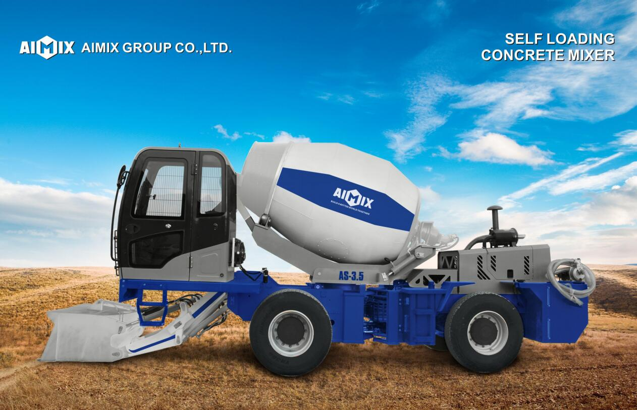 3.5cub self loading concrete mixer