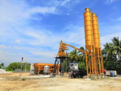 AJ35 stationary batching plant Philippines (2)