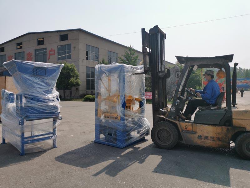 Concrete Brick Machine Shipping