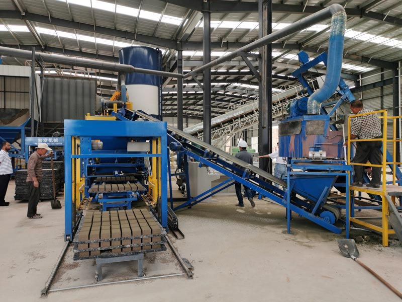 Concrete Block Making Machine Test