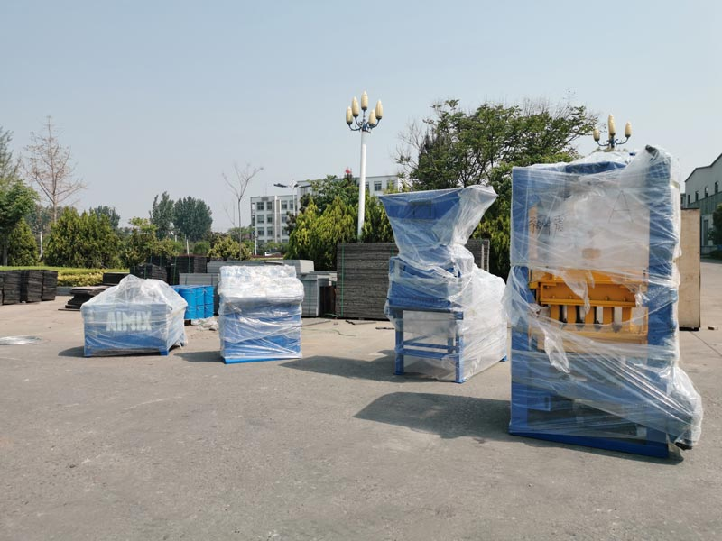 Concrete Block Machine is shipping