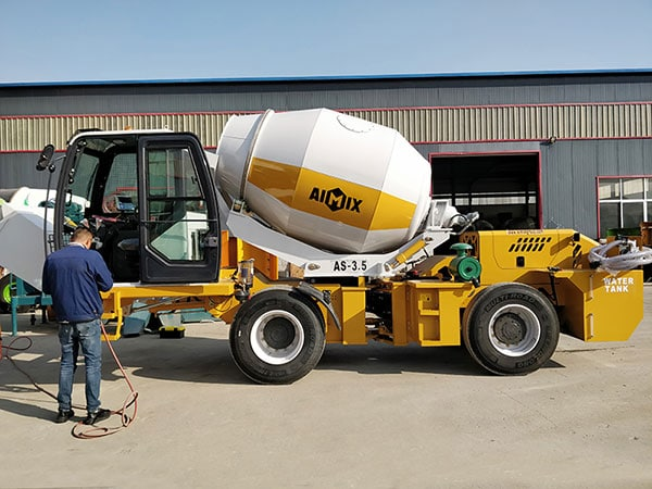 3.5 cub self loading concrete mixer to Philippines in December 2019