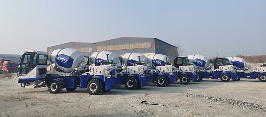6 sets self-loading concrete mixer trucks to Philippines