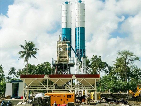 AJ50 Stationary Concrete Plant in Lagazpi Philippines