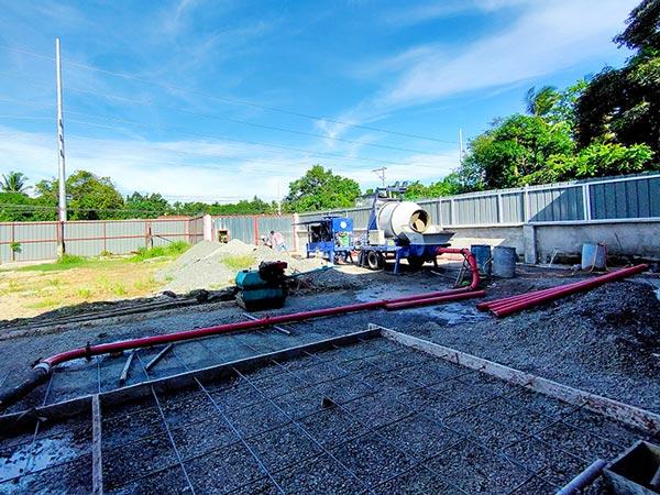 ABJZ40C Diesel Concrete Mixer Pump In Davao Philippines