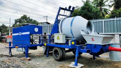 ABJZ40C Diesel Concrete Mixer Pump In Davao Philippines