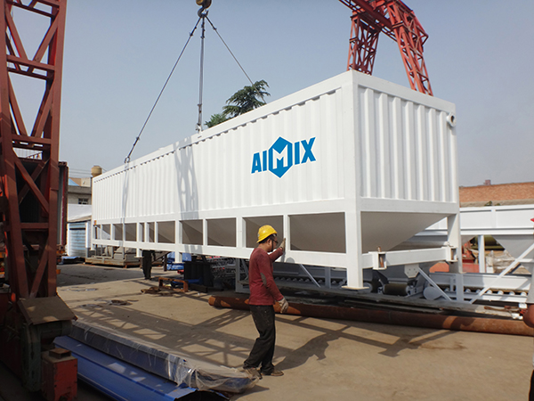 Transport the horizontal silo to Ivory Coast