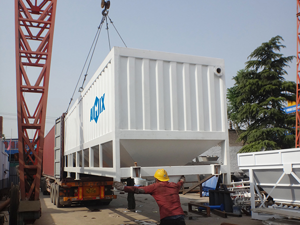 Transport the horizontal cement silo to Ivory Coast
