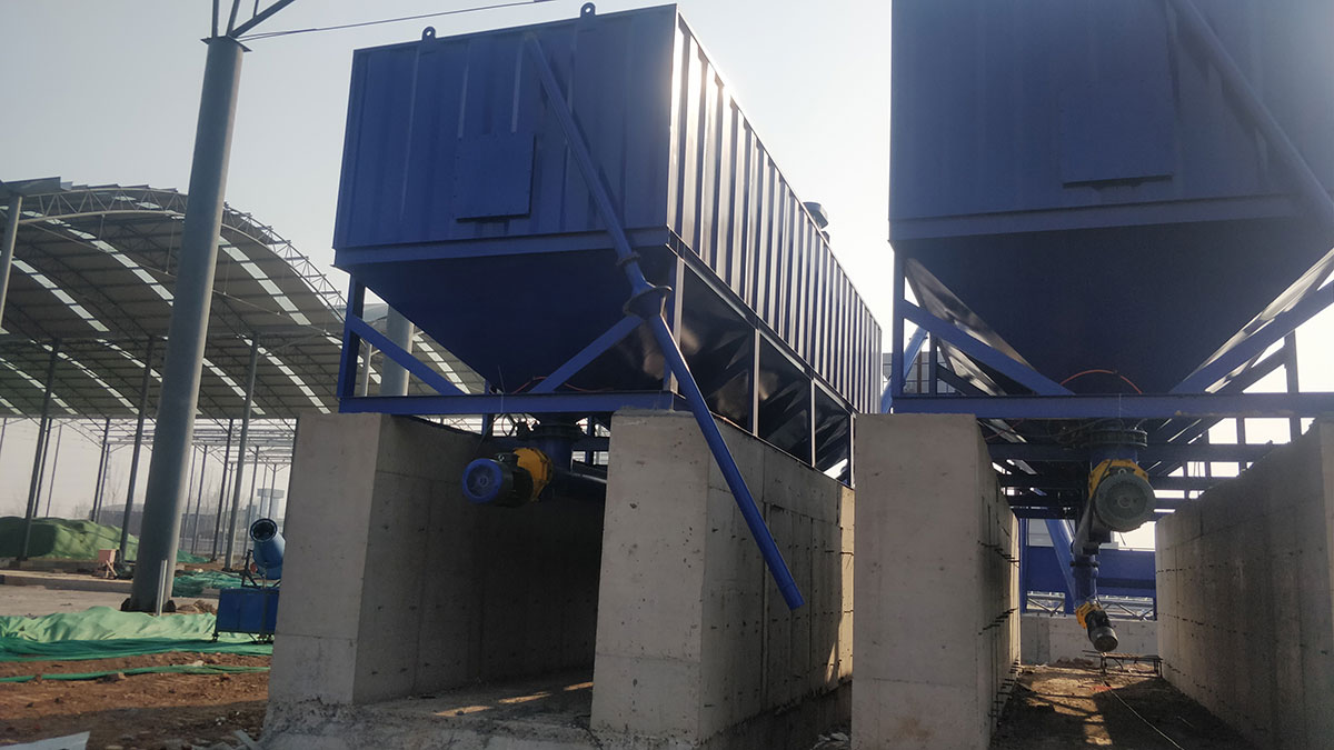 AIMIX Horizontal Cement Silo in Factory