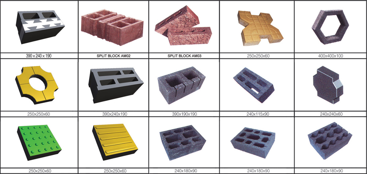 Different block molds