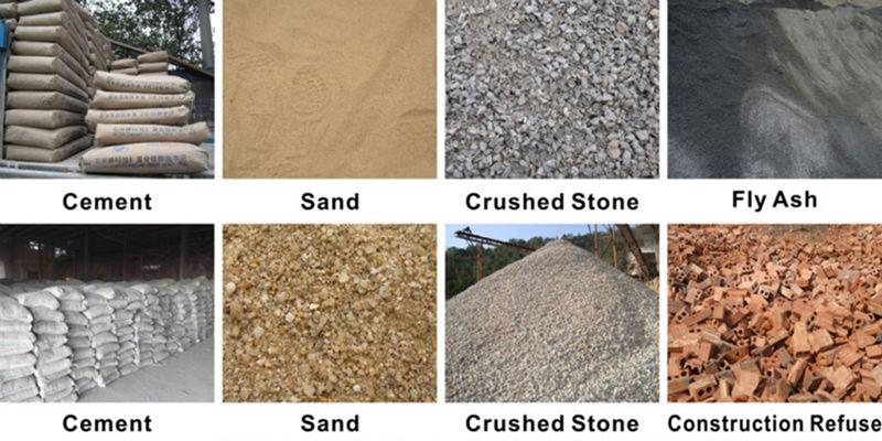 Raw materials of bricks