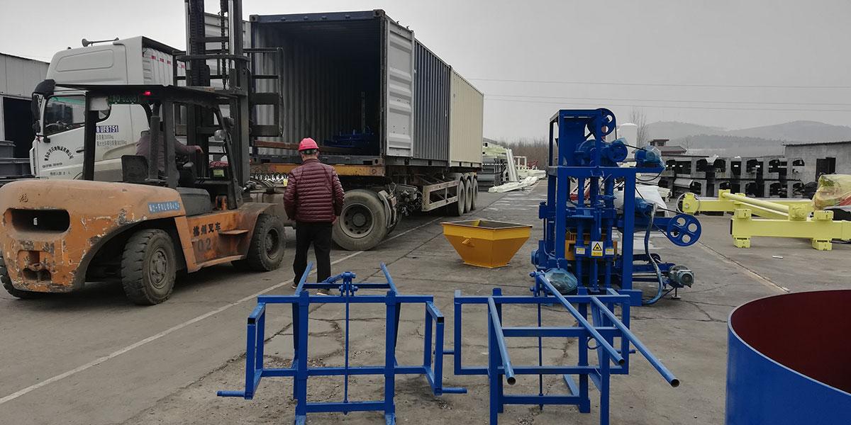 hydraulic concrete block machine to Nigeria