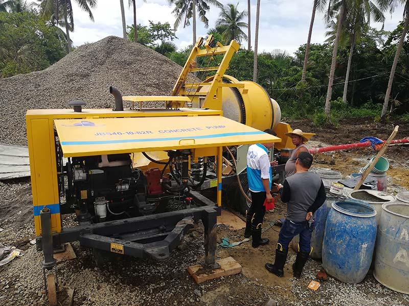 2018 07 ABJZ40C Concrete Mixer Pump in Manila, Philippines2