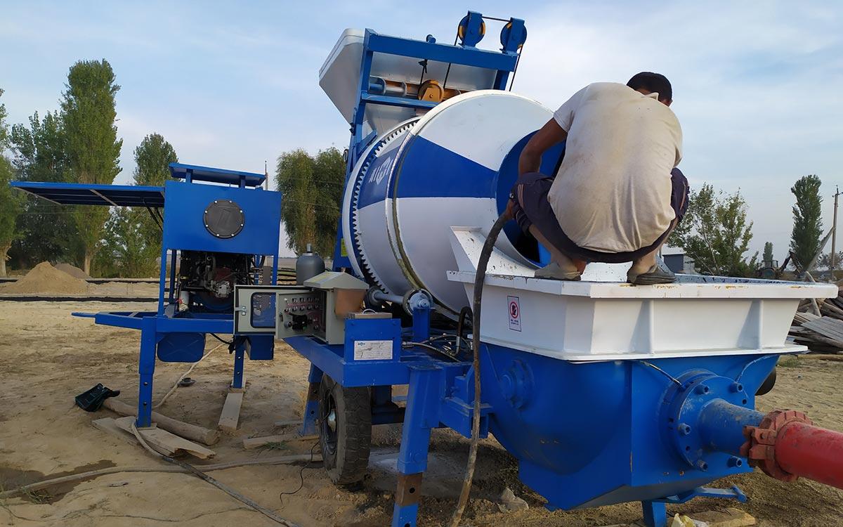ABJZ40C Concrete mixer pump in Uzbekistan