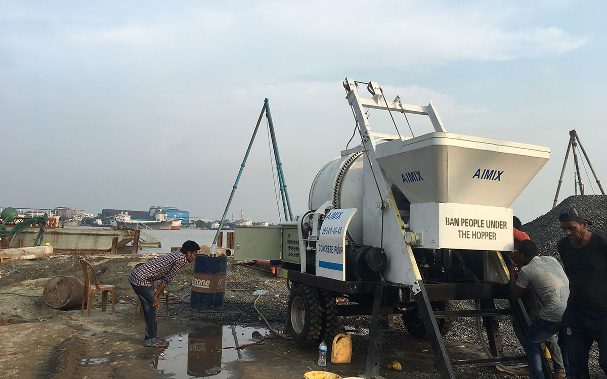 ABJZ40D Electric Concrete mixer and  pump in Bangladesh