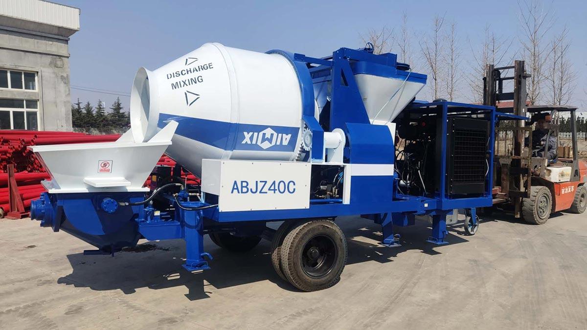 ABZJ40C Diesel Concrete Mixer Pump to Indonesia