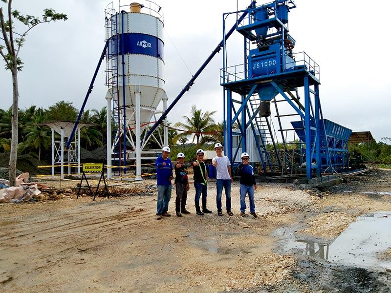 AJ50 foundation-free concrete plant in Surigao City, Philippines