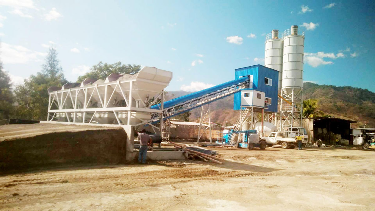 AJ60 Concrete Batching Plant with SICOMA Mixer in East timor