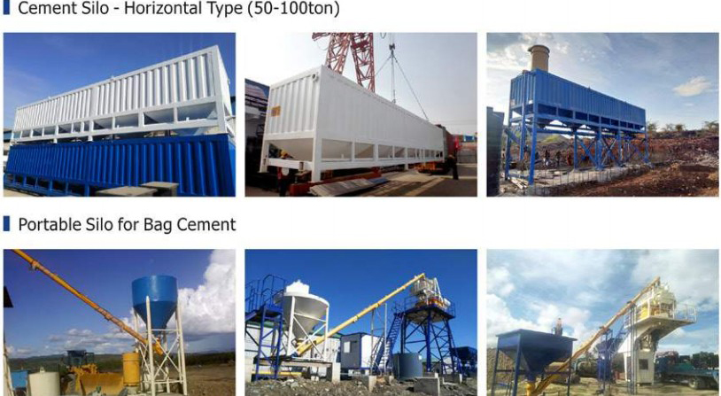 Cement Silo - Horizontal Type (50-100ton) and for Bag Cement