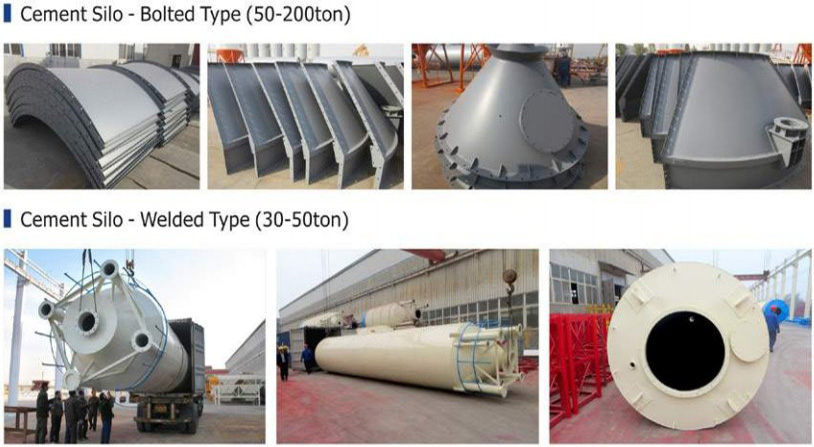 Cement Silo - Welded Type (30-50ton) and Bolted Type (50-200ton)