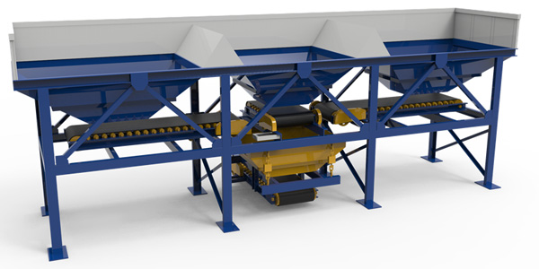 Centralized Weighing Batching Machine Hopper Weighing