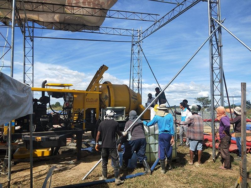 Install Diesel ABJZ40C-Concrete Pump in Philippines