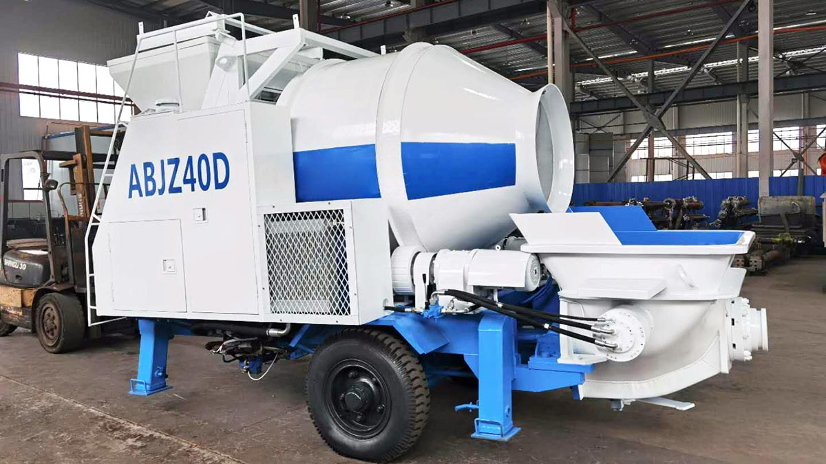 Electric concrete mixer pump boxed in April 2020 ready to be sent to Tusamarkand