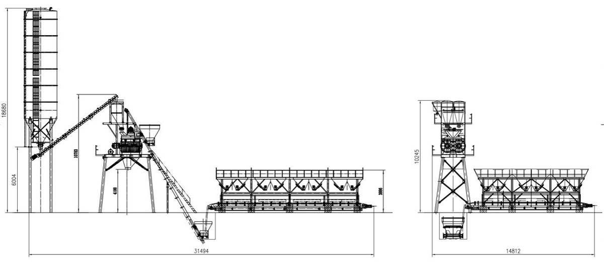 Hopper Type Stationary Plant Technical Parameters