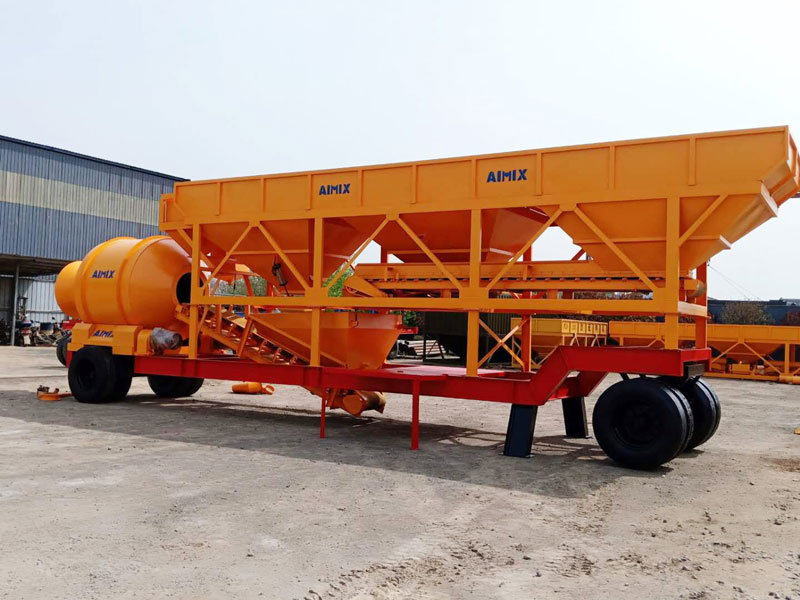 Mobile drum type batching plant