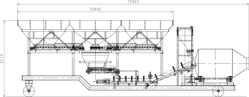 Models and Technical Parameters of the drum mobile type batching plant