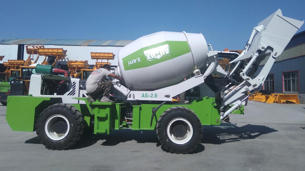 2.6 Cub Self-loading Concrete Mixer to Philippines