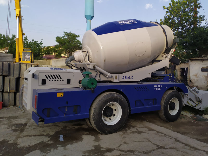 AS-4.0 Self-loading Mixer and ABT60C Concrete Pump Working in Uzbekistan
