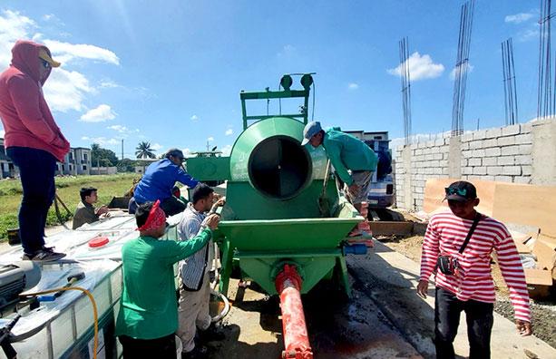 ABJZ40C Diesel concrete mixer with pump in Cavite Philippine