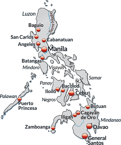 AIMIX in the Philippines map