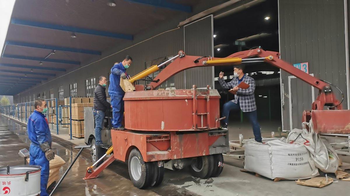 AZDJ2000 Grab Bucket Mixer Truck