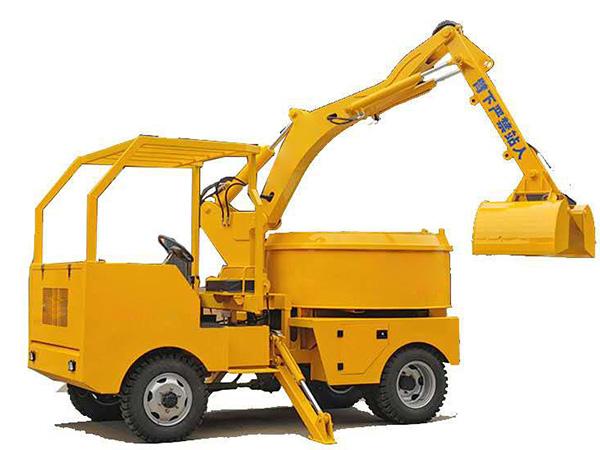 AZDJ2000 Grab Bucket Mixer Truck2