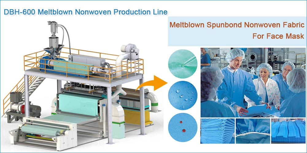 Meltblown Production Line for masks, surgical gowns, protective clothing...