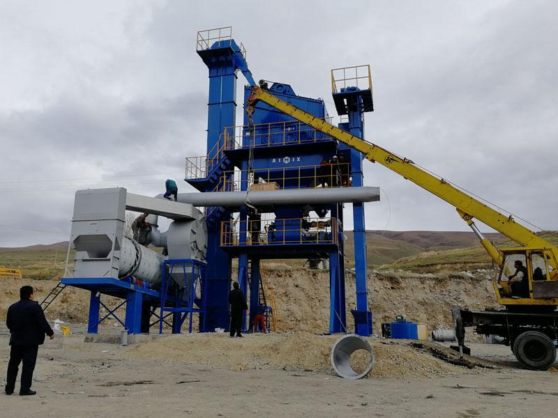 ALQ60 Stationary small asphalt plant in Kyrgyzstan