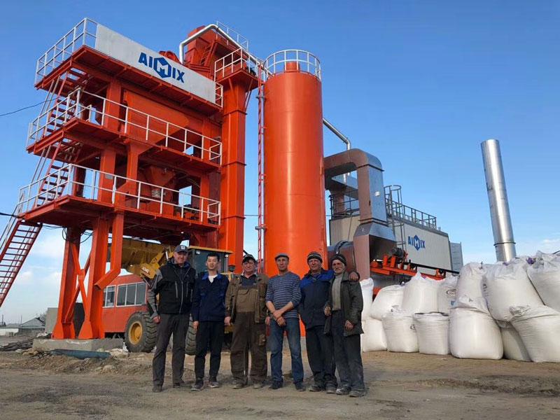 ALQ80 Stationary asphalt plant in Russia