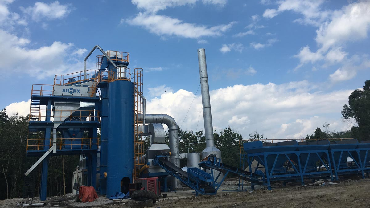 ALQ80 Stationary hot batch mix plant in Indonesia