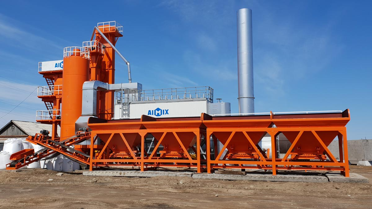 ALQ80 stationary type hot mix plant in Russia
