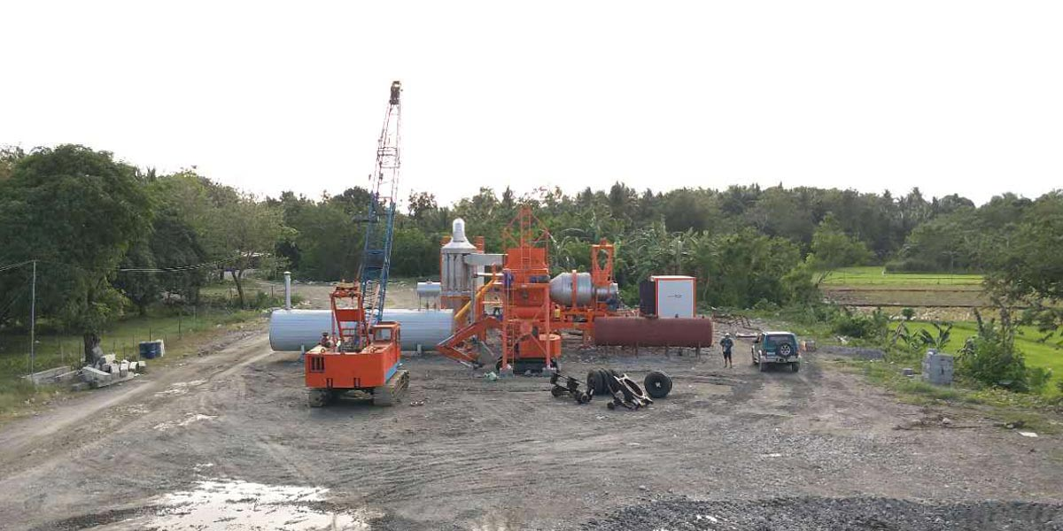 ALYJ Mobile asphalt hot mix plant in the philippines