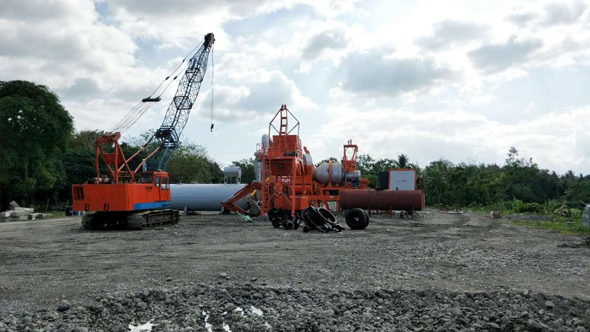 ALYJ60 Portable Mobile asphalt plant successful installed in philippines