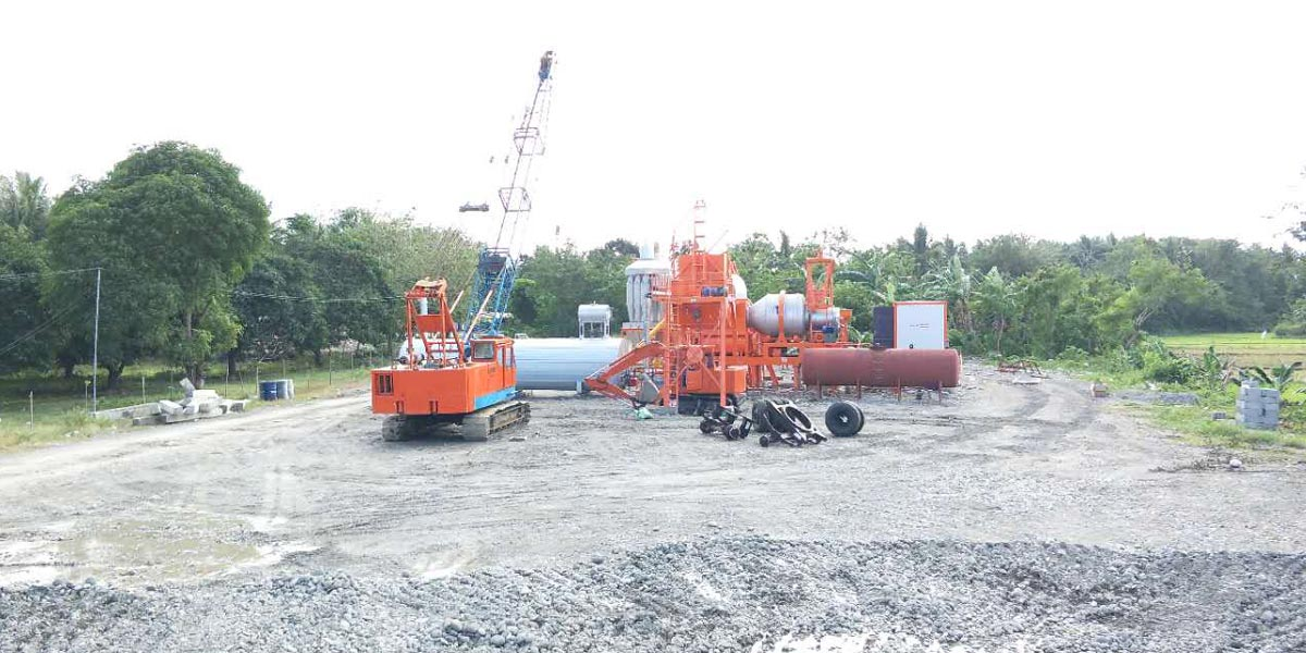 ALYJ60 Small asphalt plant in the Philippines